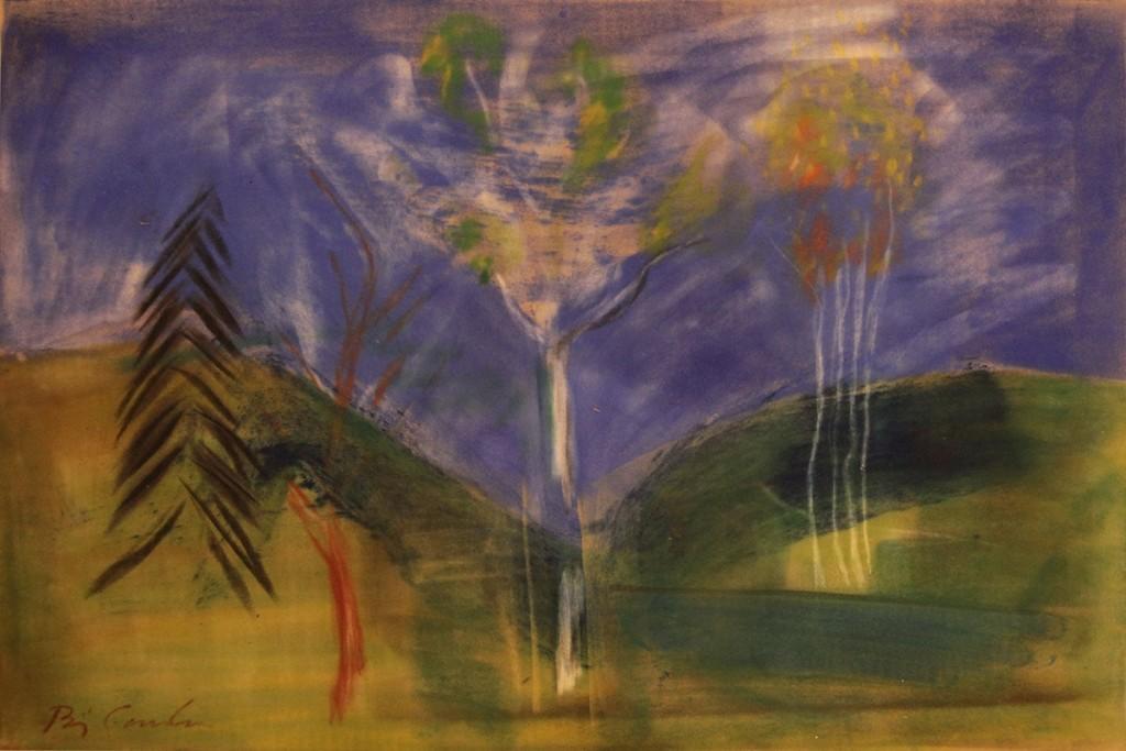 "Bjørn Carlsen, ""Landskap"", 50x 65 cm, 19 000,-"