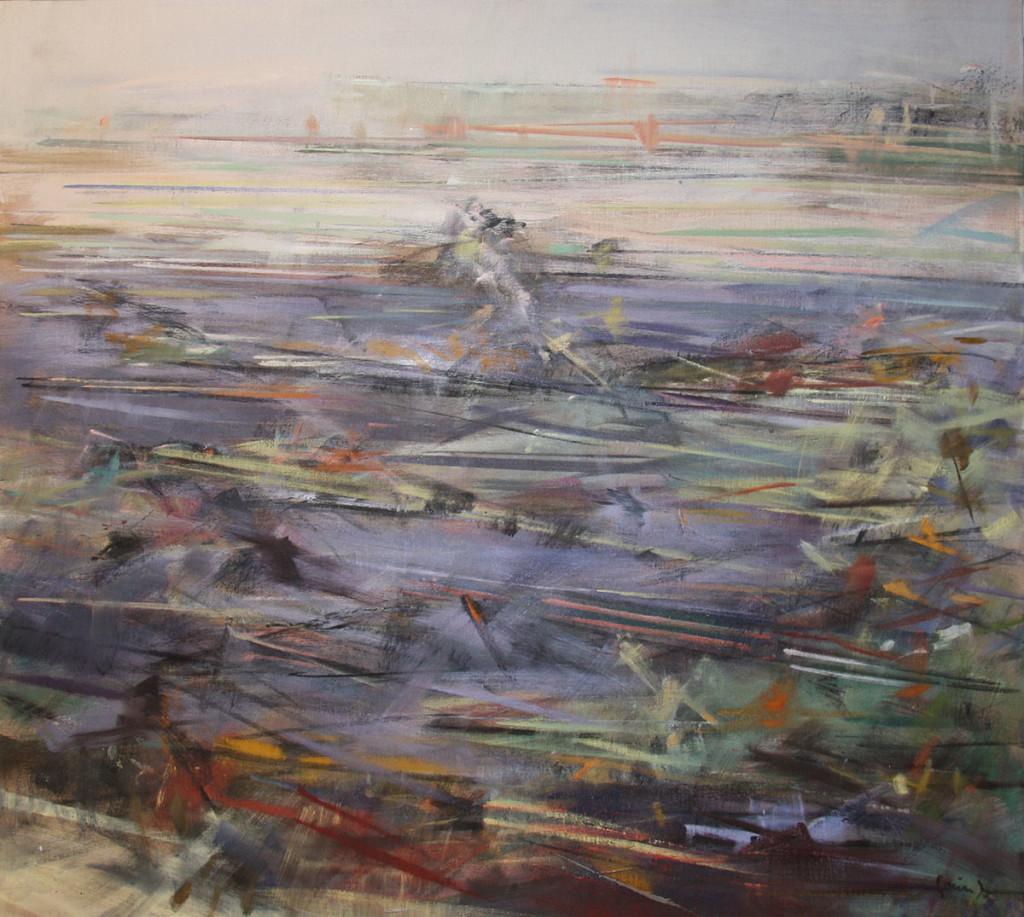 """Svein Johansen, """"Vinterreise"""", 88x98, 36 000,-"""