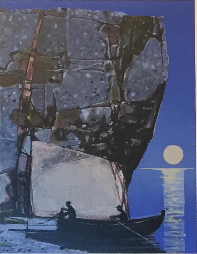 "Rolf Nerli ""Fiskere"" hos Galleri Hanne"