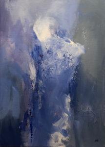 Blå torso fra Mathis Nango hos Galleri Hanne