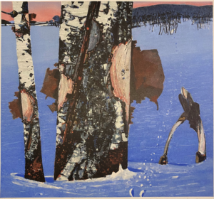 Blå vinter av Rolf Nerli
